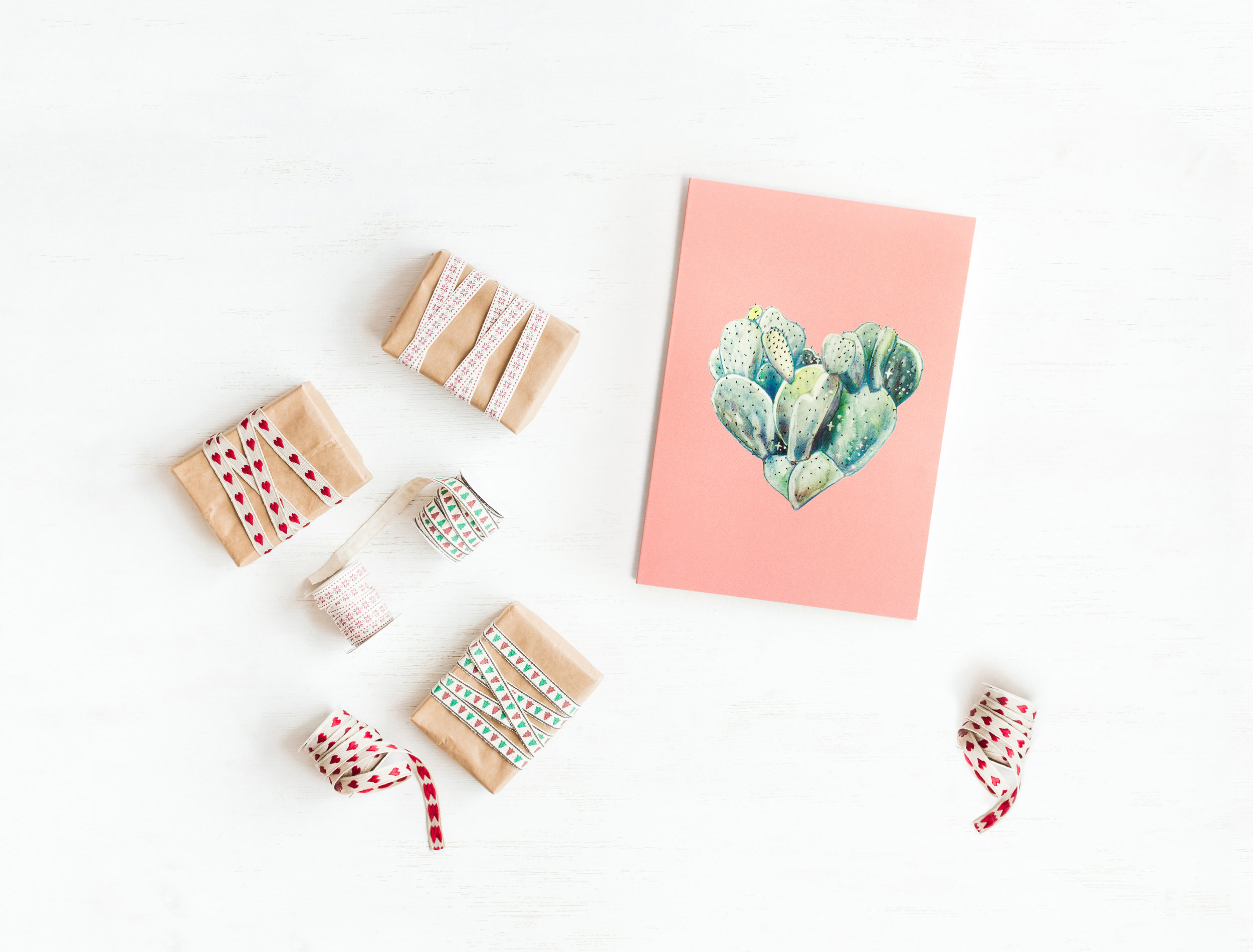 One of my best sellers during DAAP Makers – Prickly Pear Heart greeting card for your plant-loving lover, family and friends in your life.