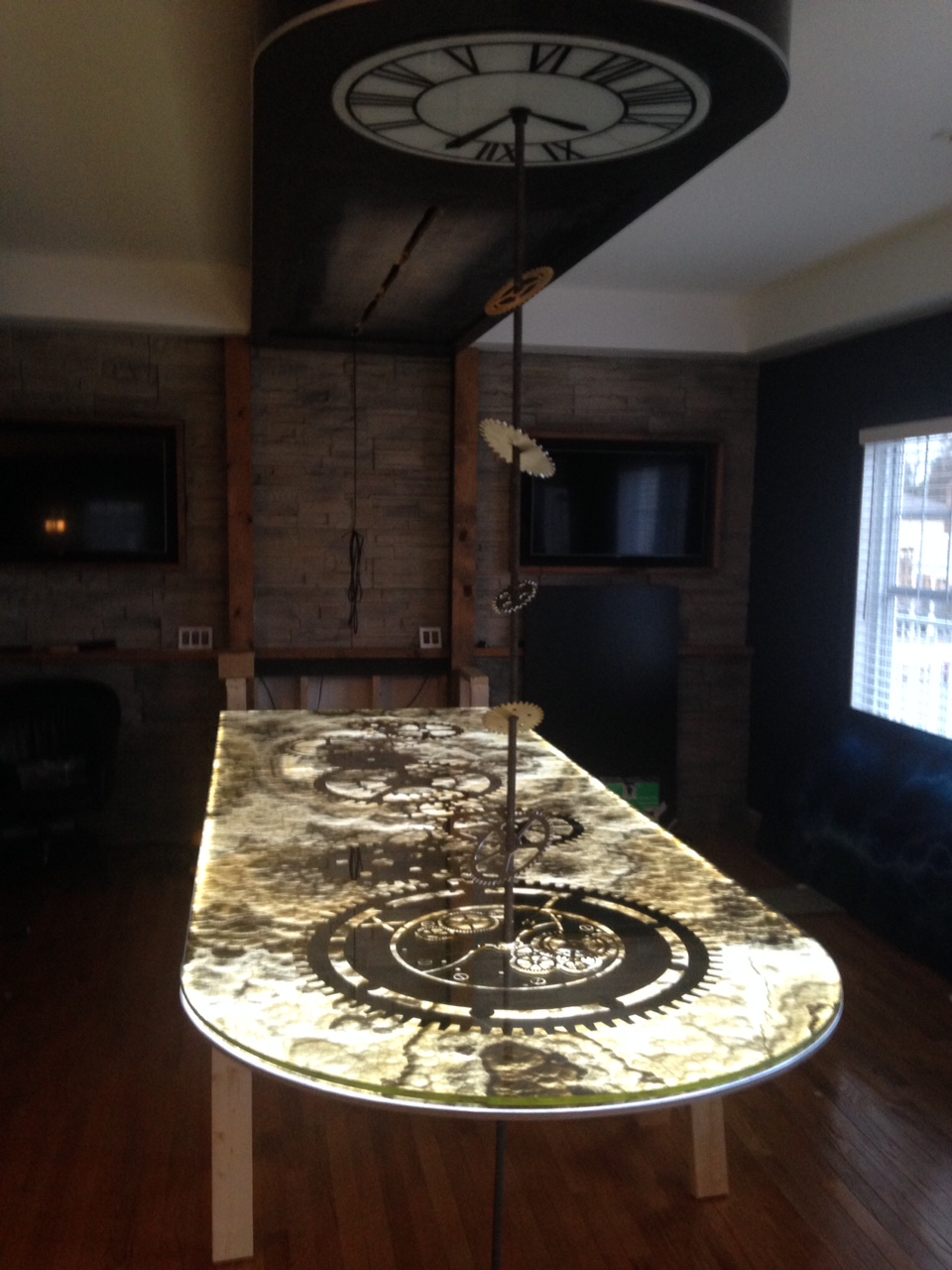Grey Onyx.  Floating Table 1.JPG