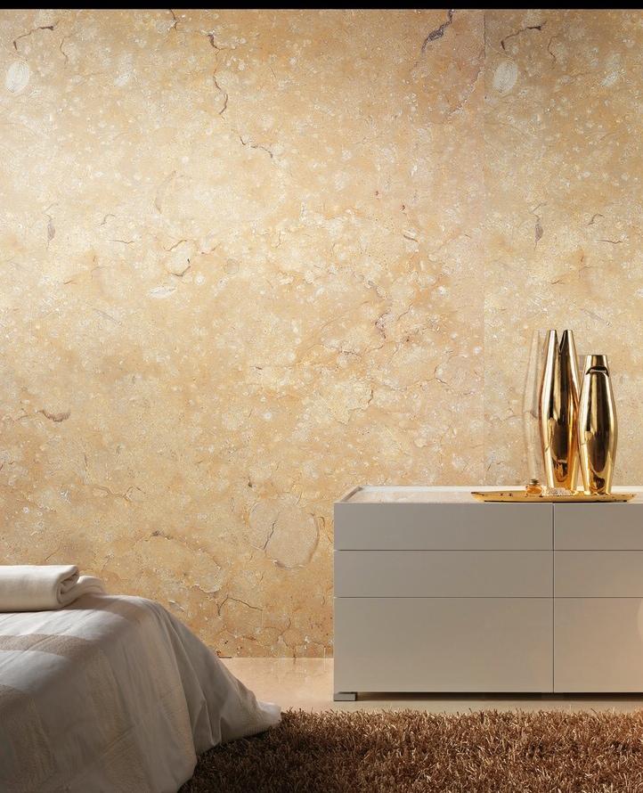 Crema Marfil. Leathered. Wall.JPG