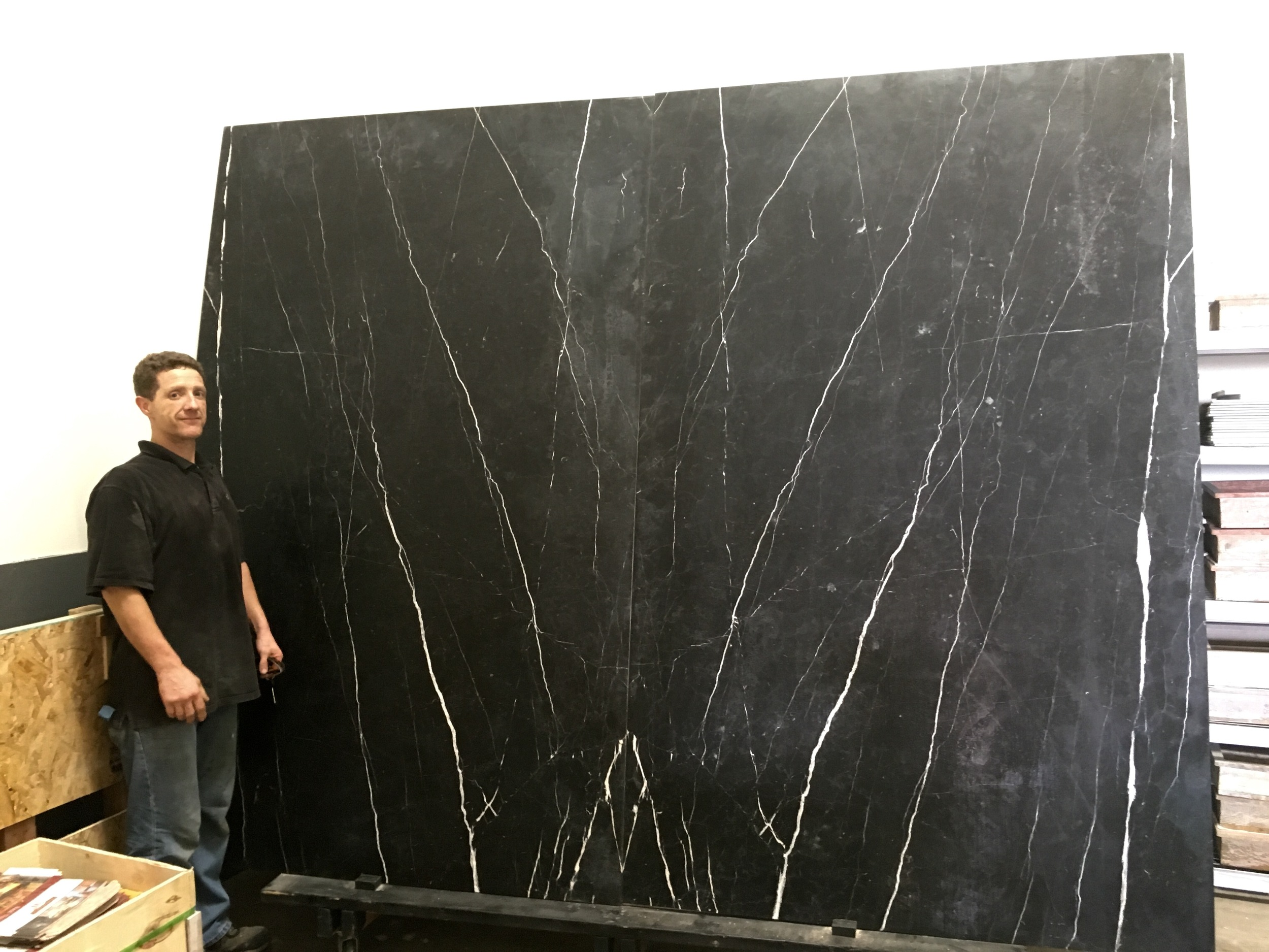 Nero Marquina leathered. 5'x8' bookmatched.jpg