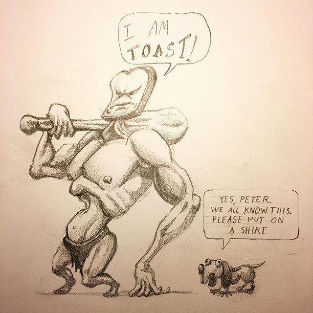 This is Peter. We just met. #drawing #art #comics #illustration #sketch #funny #humor #meme #pencil #graphite #ink #cartoon