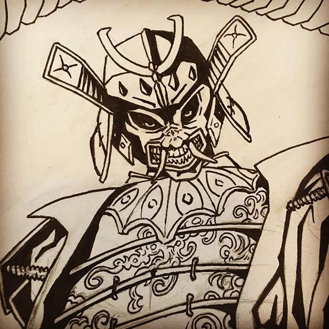 #drawing #art #comics #illustration #samurai #japanese #ink #sketch #sekiro