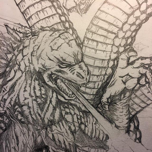 Pencils. #drawing #art #comics #illustration #sketch #graphite #pencil #godzilla #godzillakingofthemonsters