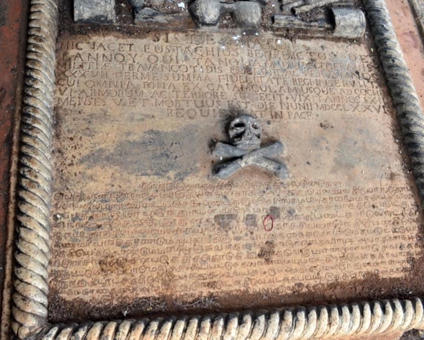 De Lannoy Tomb Epitaph