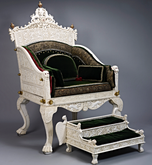 Ivory Throne, Windsor Castle, Windsor, UK (Image Courtesy: Royal Collection Trust UK)