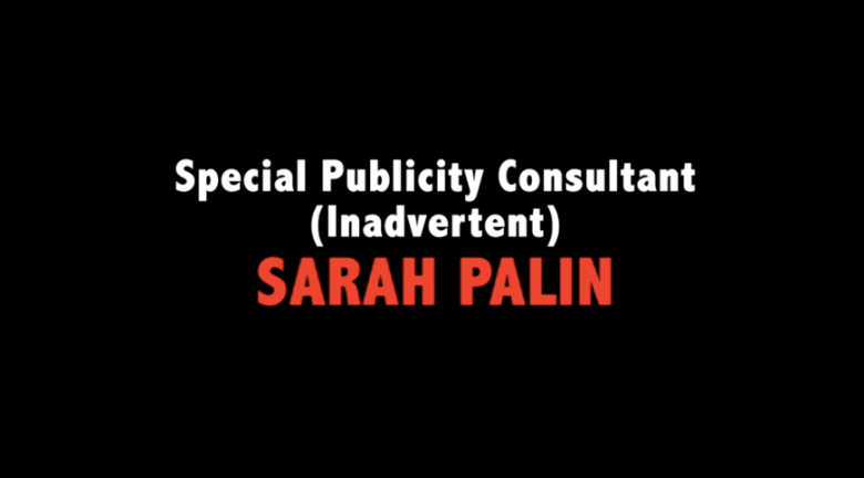 Palin's little mention. She certainly played her part!