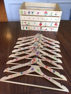 The Grade 3 craft consists of a set of 8 signed hangers and a matching wooden storage box. Thanks to Jennifer Friesen and Jackie Sehn for coordinating this craft.  Opening Bid: $50 Bid Increments: $10 Class Code:  Name, G3-(place bid)