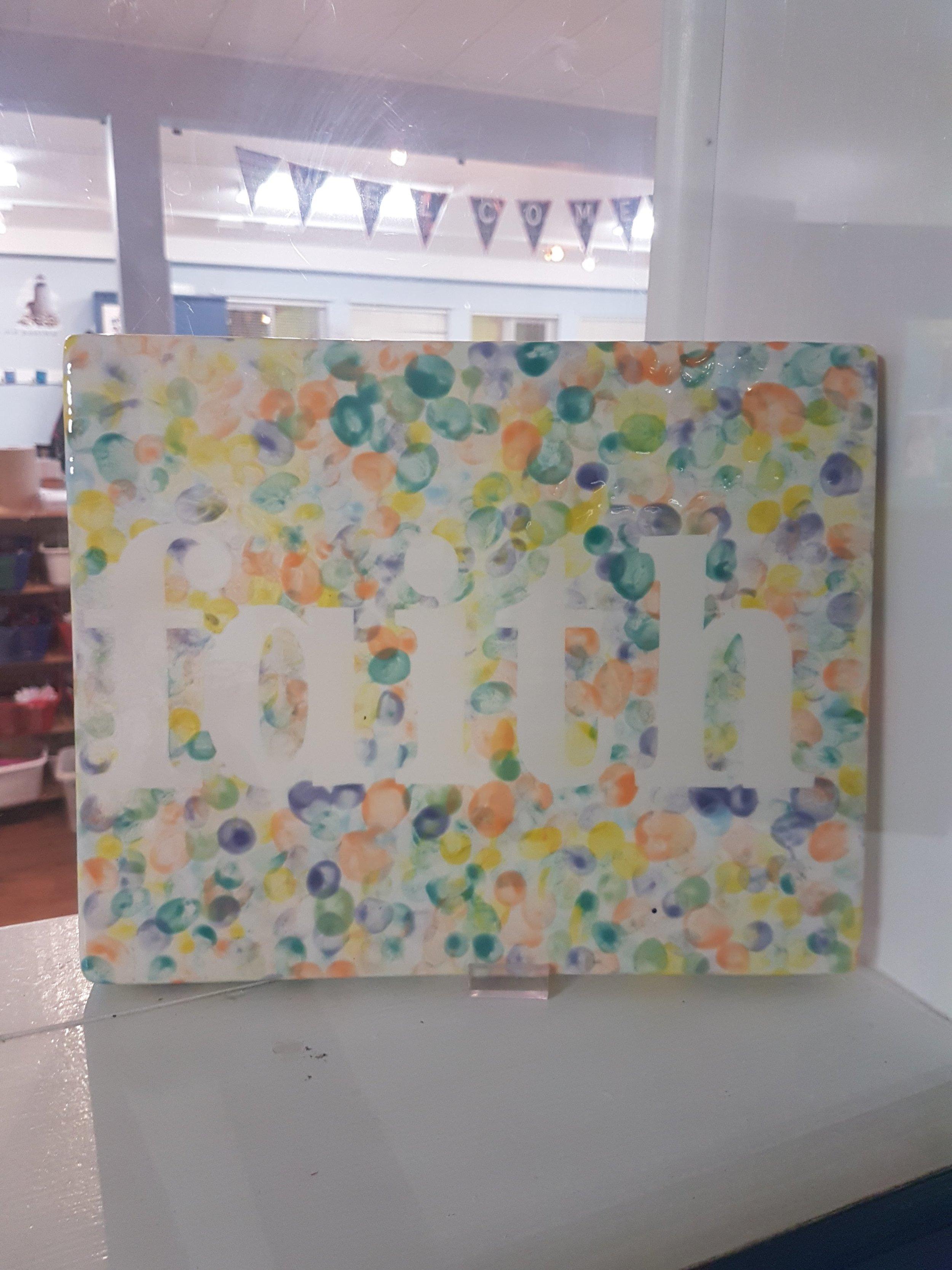 Preschool - ceramic fingerprint platter