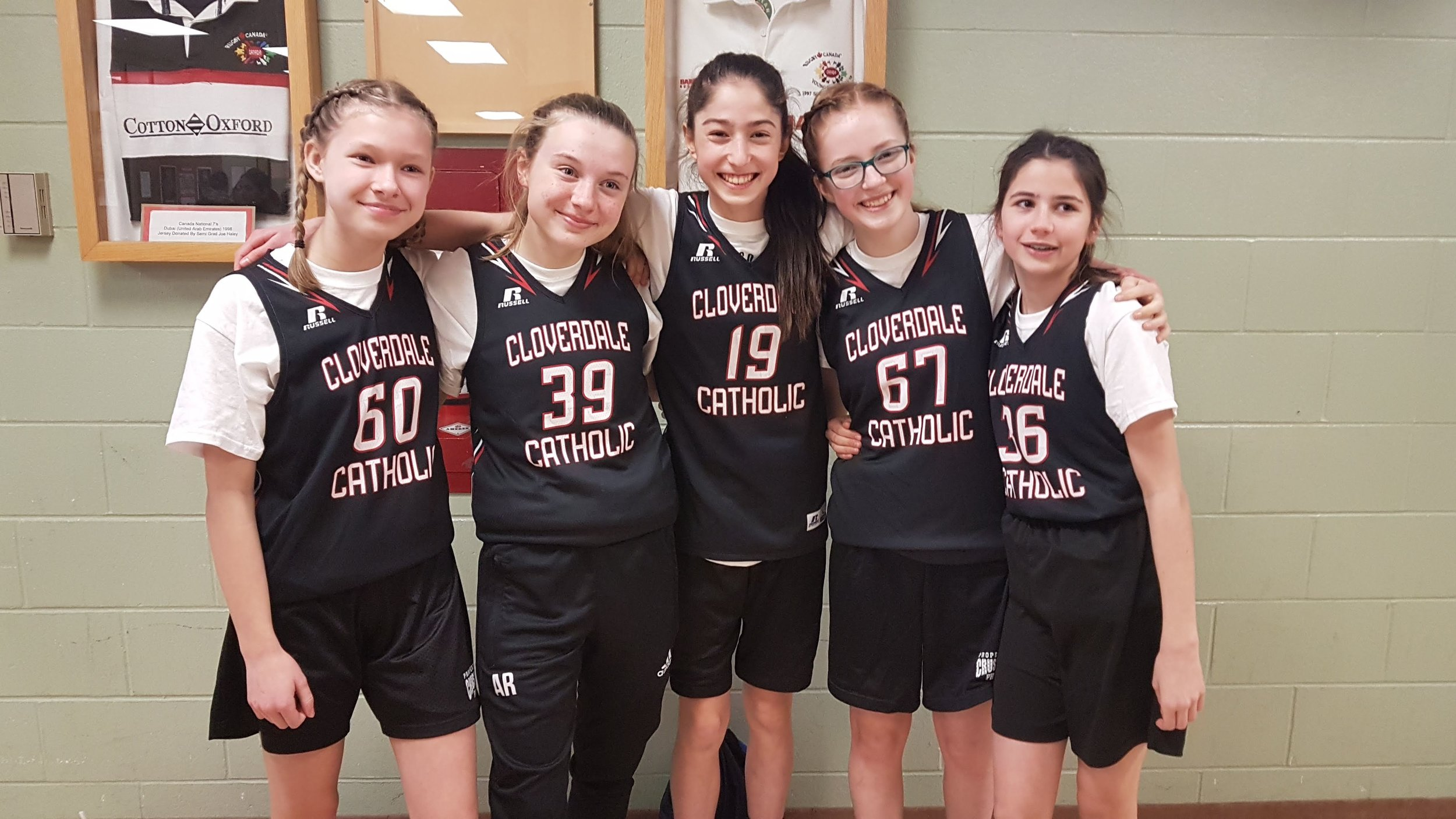 Emily, Amy, Claire, Kate, and Emilia at the BC Provincials