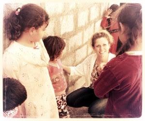 Julie Meets With Kids in Kurdistan