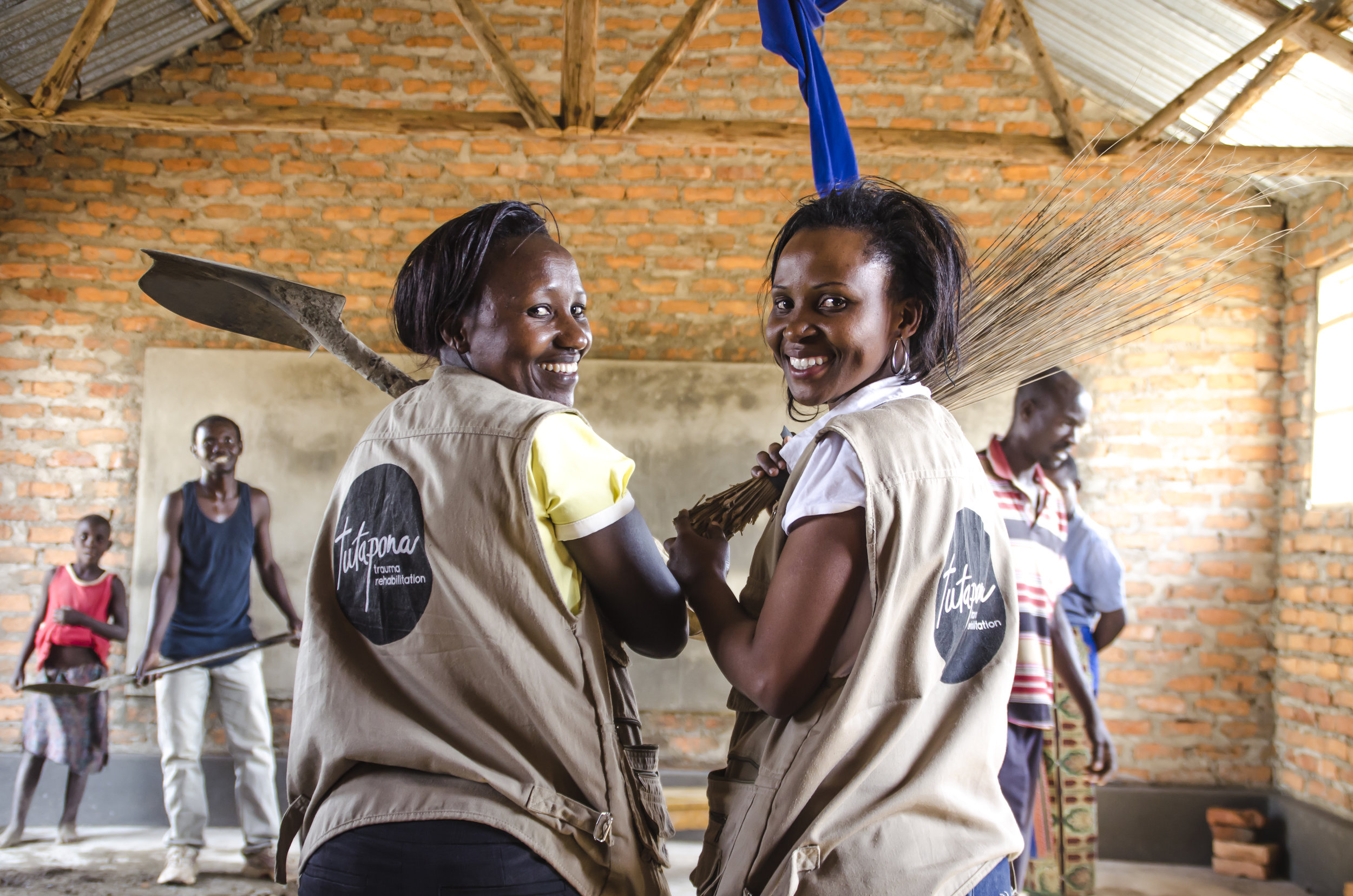 (Rose & Sophie, Tutapona Staff Members at Nakivale Refugee Settlement)