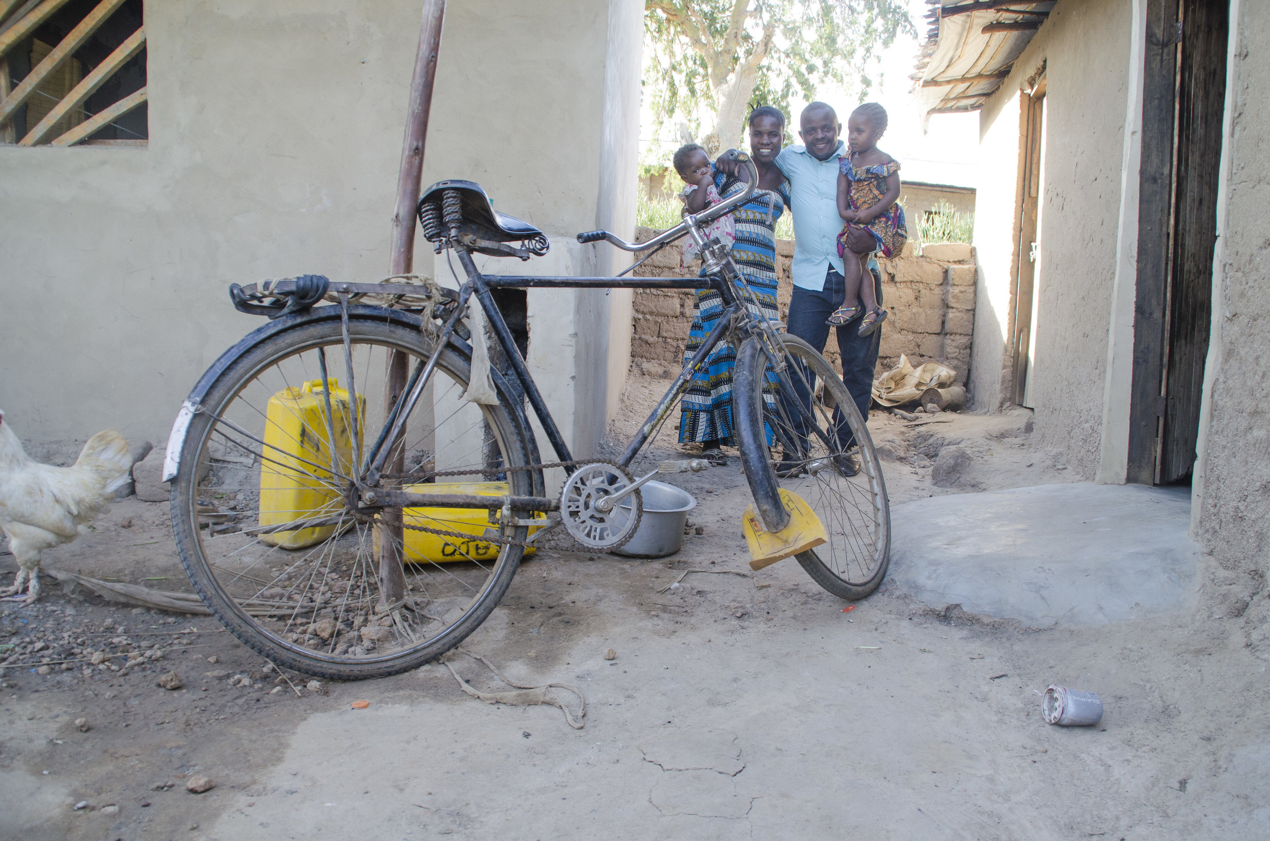 The bike that Kado first purchased to fetch water to sell - it became a great source of income for his family.