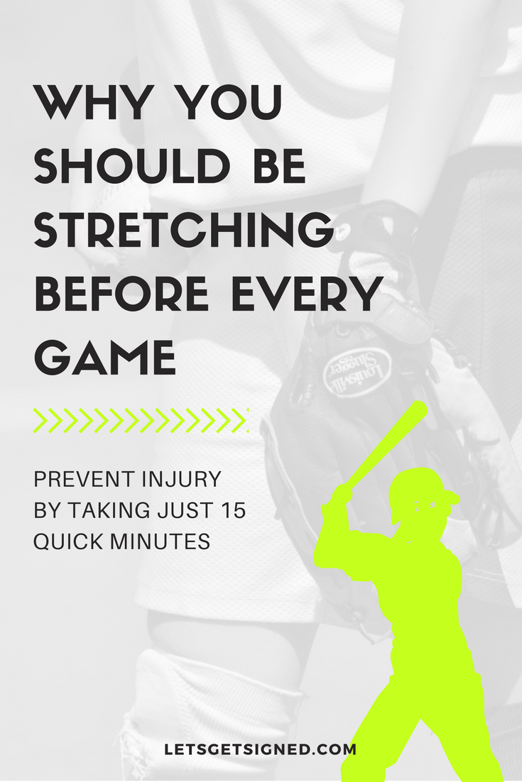 softball - why you should be stretching before every game