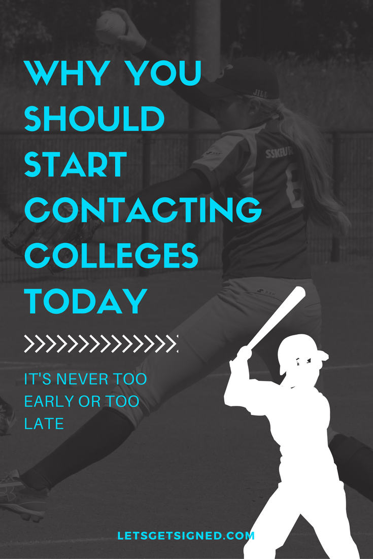why you should start contacting colleges today - softball