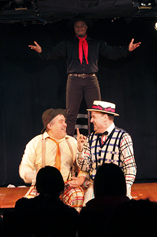 William Thomas Evans, Shavey Brown, and Dale Hensley in  The Fantasticks.