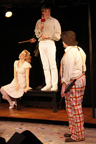 Madison Claire Parks, Drew Seigla, Andrew Polec, and William Thomas Evans in  The Fantasticks .