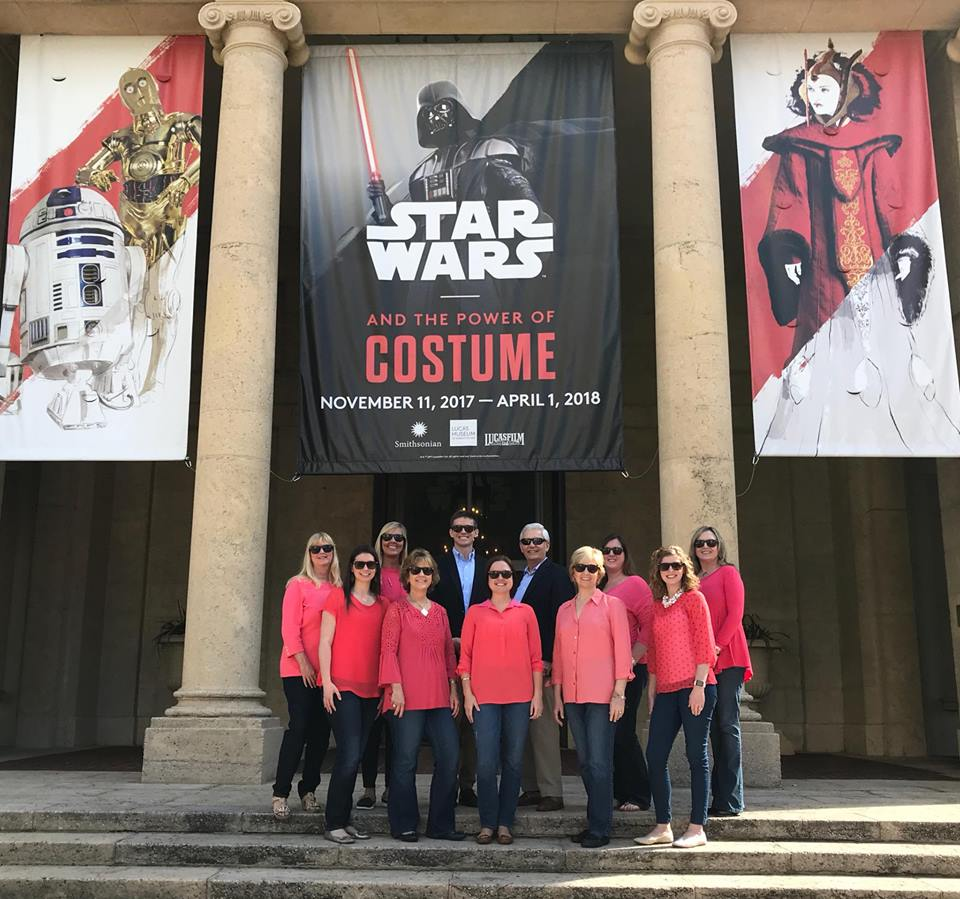 Dr. Amley arranged for the team to visit the St. Pete Museum of Fine Arts to see the Star Wars Experience exhibit during our team retreat!