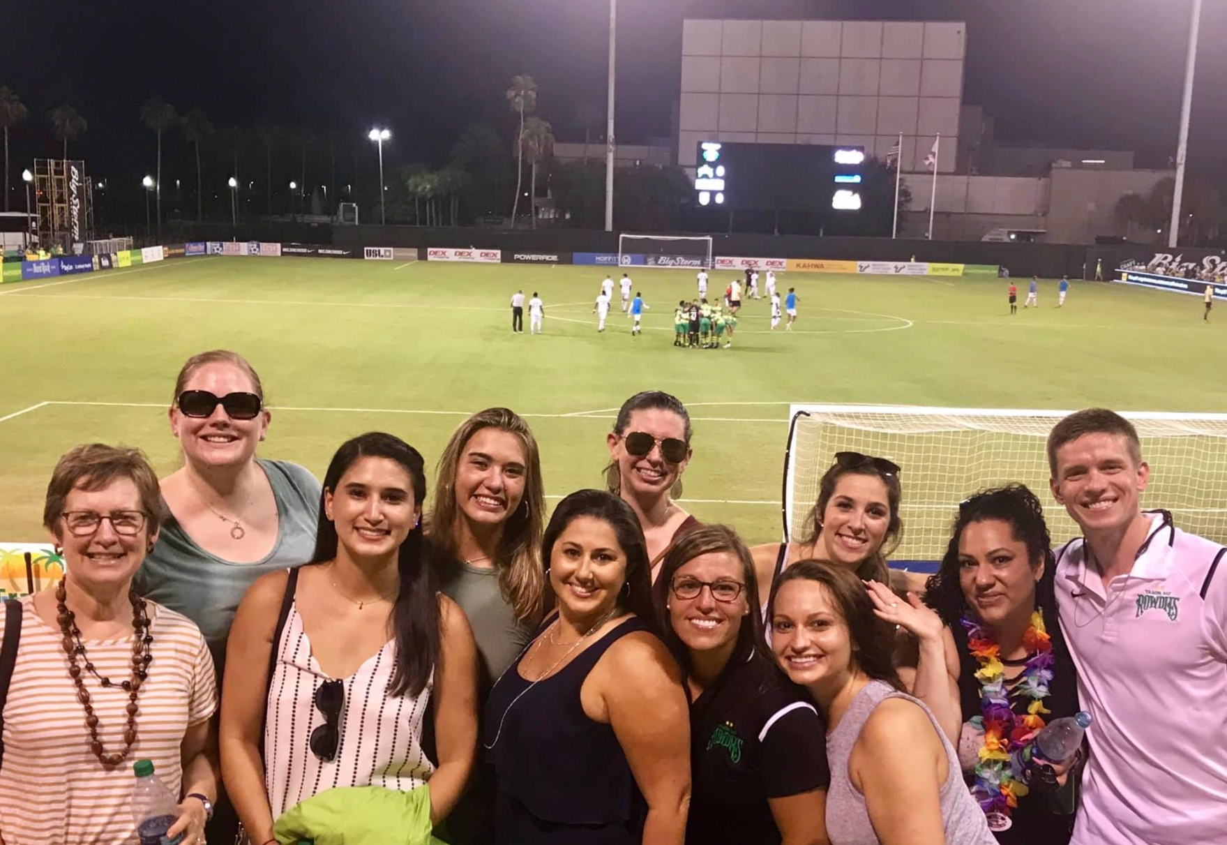 The team at a Rowdies game in August!