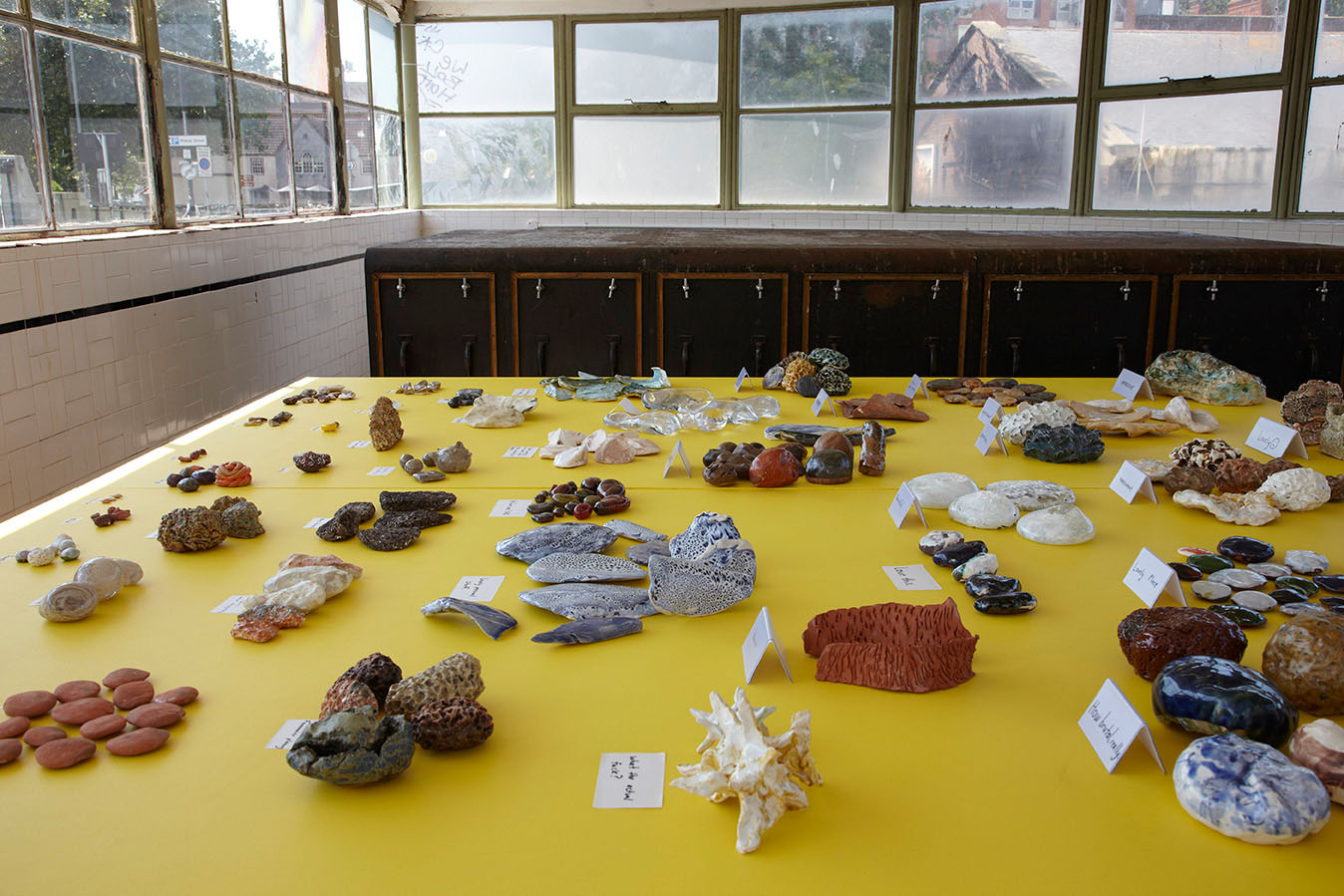 Mr+Mrs Hands     Stoneware, porcelain, earthenware, sand, glass, wood, paint, cardboard     North Cabin, The Control Room, Redcliffe Bridge