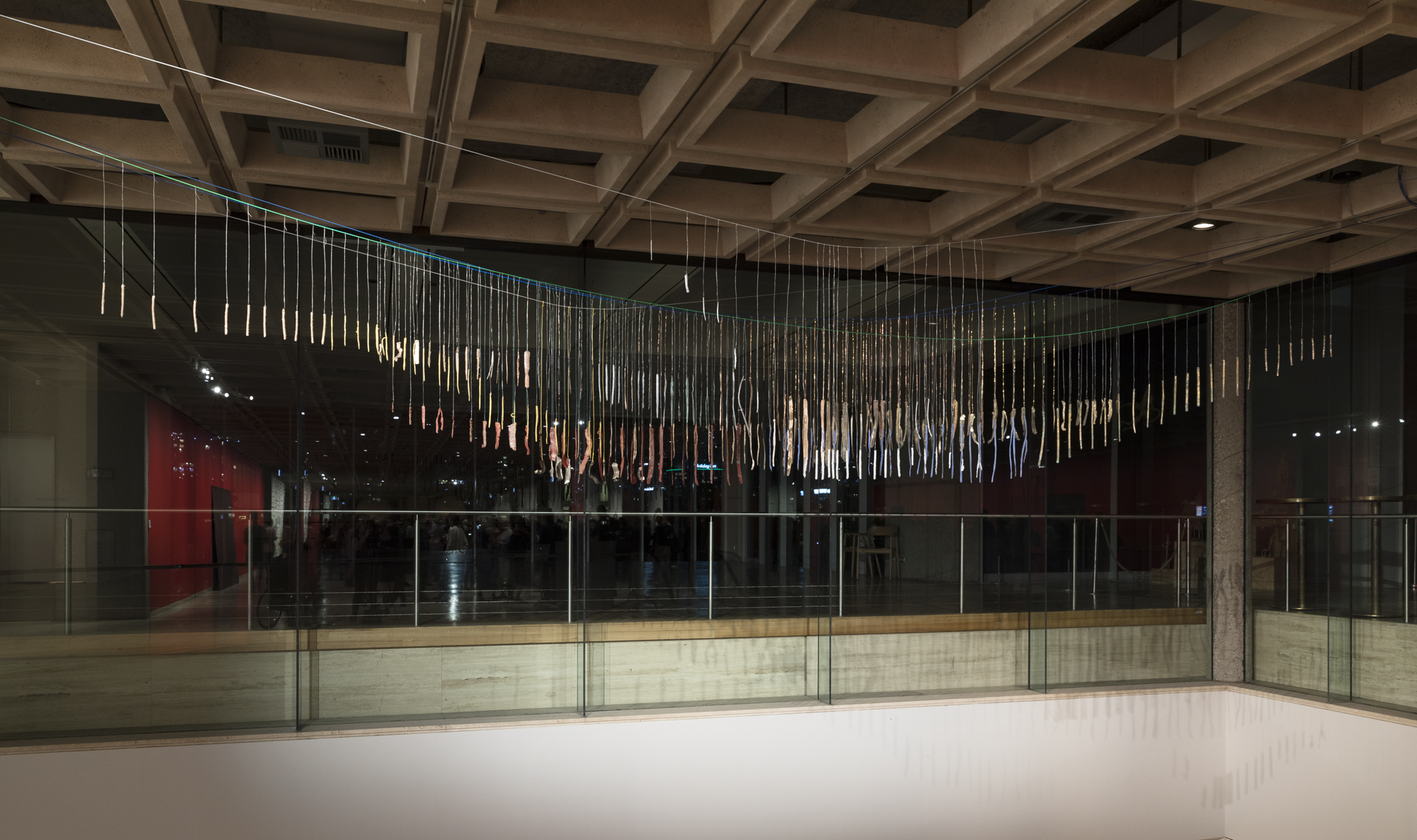 I'm actually weirdly exciting , 2018 Bronze, white brass, brass, silver, wire, PVC coated wire  Dimensions variable Installation view of the 21st Biennale of Sydney (2018) at the Art Gallery of New South Wales. Photograph: silversalt photography