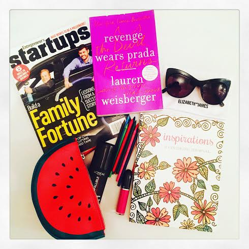 Fly Girl Travel Essentials! Elizabeth & James sunnies via  Ditto , new reads and I've join the coloring book wave. Chicago was dope.