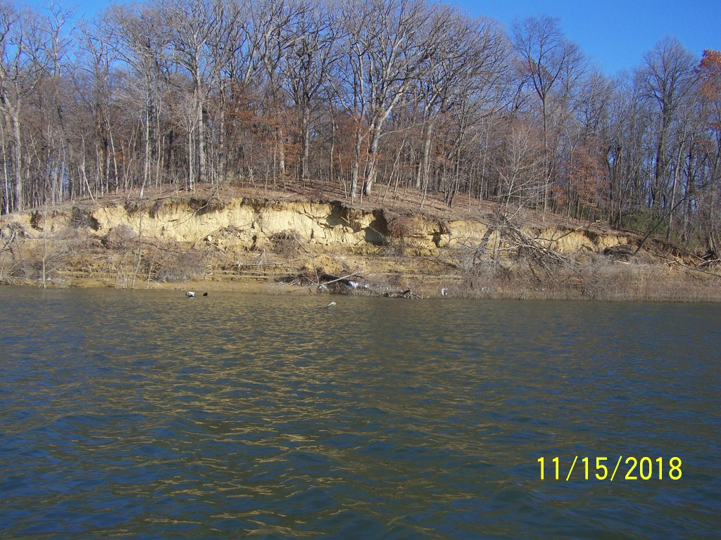 Here is an example of the shoreline erosion issue on Coralville Lake
