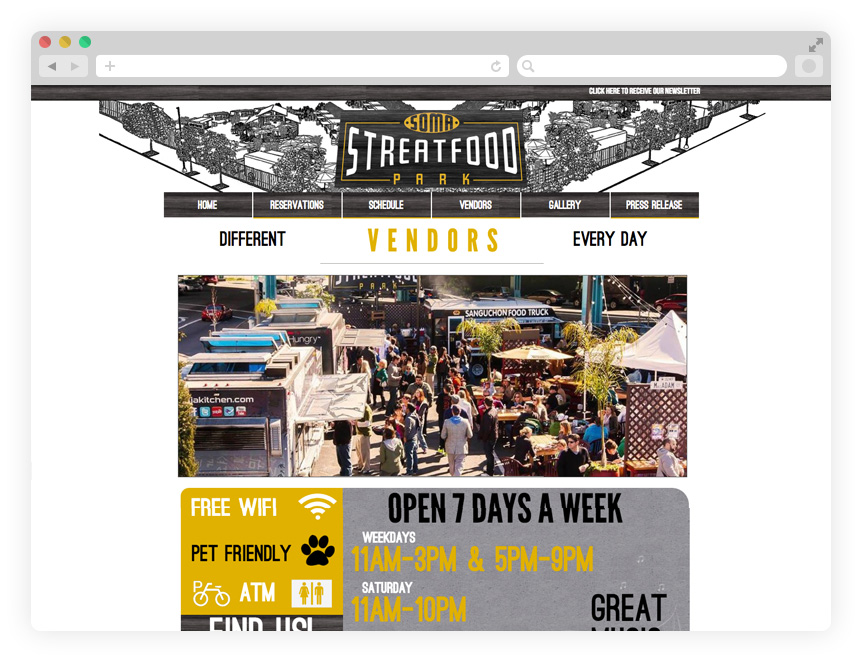 The old SOMA StrEat Food Park website