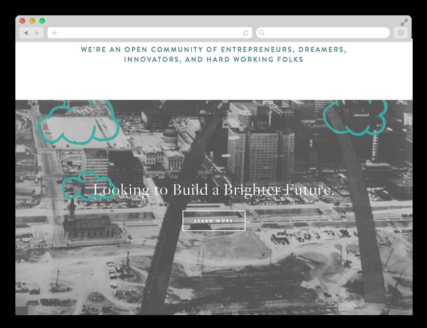 Promotional site: historic photos of St Louis Arc.