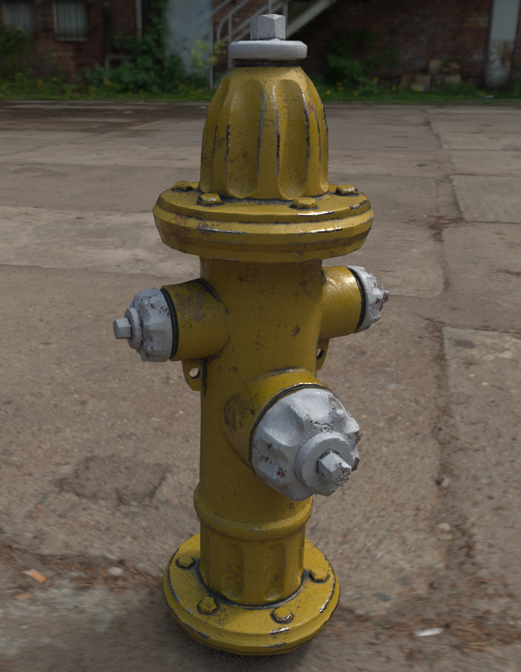 Fire Hydrant Game Asset