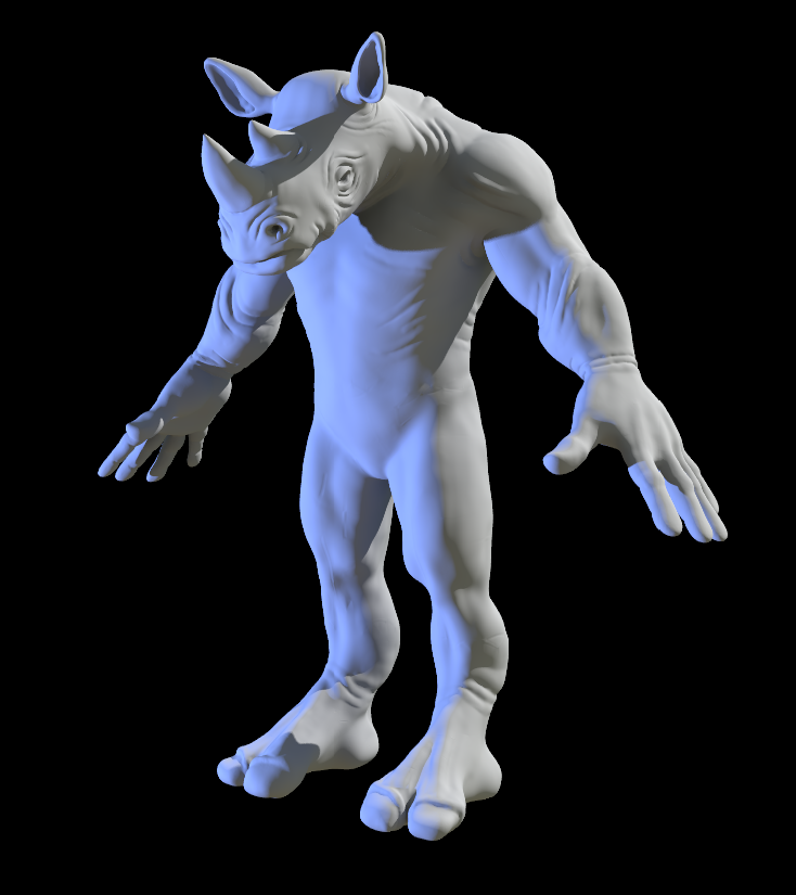 Rhino Zbrush Sculpt