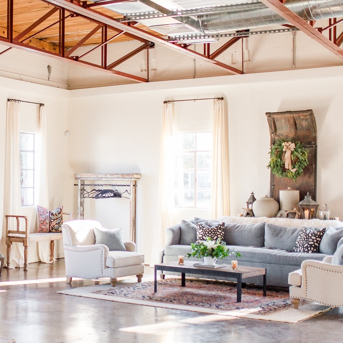 WAREHOUSE - Our historic 4,000 sq/ft warehouse in the heart of midtown Lynchburg will provide space for as many as 150 guests. Use our on-site event coordinator and preferred vendors to make your creative dream come to life in a space as unique as you are.