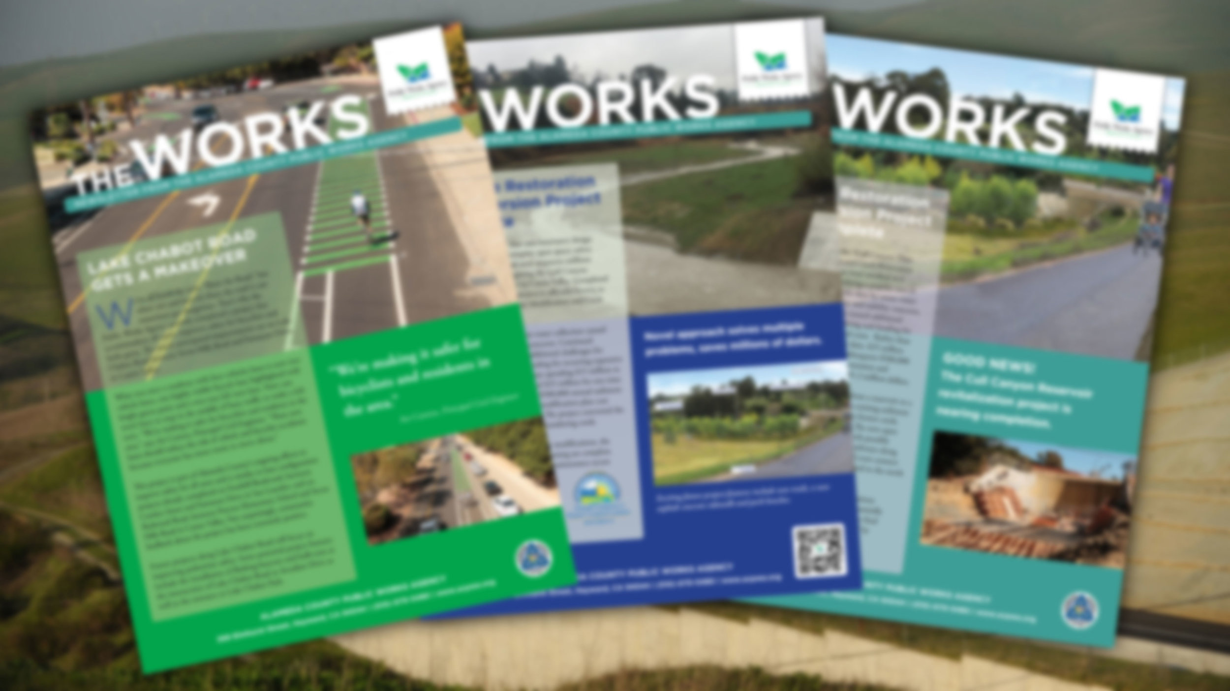 Alameda County Public Works Agency   The Works - Quarterly Newsletter    Check It Out