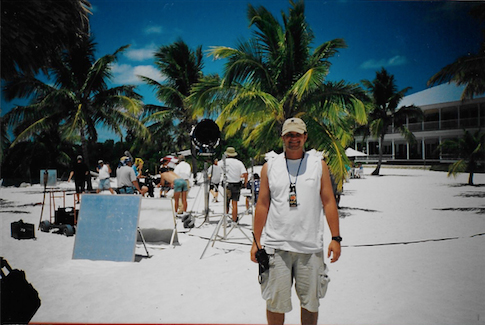 "Me as a PA in 2000 on ""Unser Charles"" a German TV show shot in the Keys"
