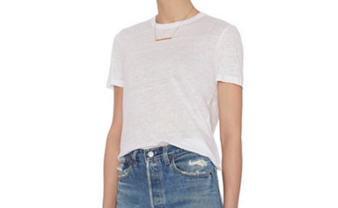 A.L.C. PERFECT WHITE TEE   Every pair of jeans needs a white tee shirt. Currently all my favorite tee shirts are by A.L.C.