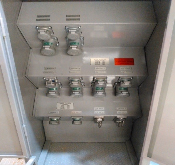 -Multiple Voltage Plug Board for a Drilling Rig (Completely manufactured in shop)