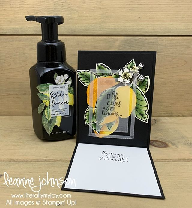 🍋When you find inspiration 💡 at the most odd moments in life. I rather craft ✂️🖍 than clean (🙄 house chores 🧹🧽). #literallymyjoy #stampinup #papercrafting #lemonzest #goodmorningmagnolia #freeasabird @bathandbodyworks #kitchenlemon #linkinprofile