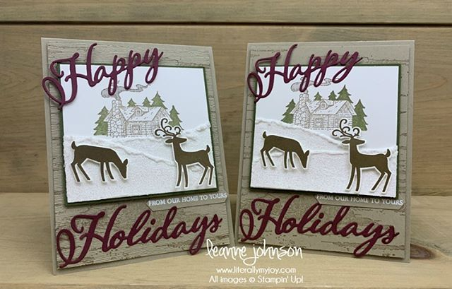 Stamp Review Crew is blog hopping today and is focusing on the Birch background stamp. When you get a moment, come visit each of us and view our creations. . . #literallymyjoy #stampinup #stampinthroughthecatalog #sttc #SRC #StampReviewCrew #holiday #rusticretreat #dashingdeer #merrychristmastoall #birch #20192020AnnualCatalog #linkinprofile