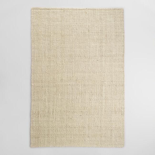 White Bleached Sisal Rug 5x8 $40