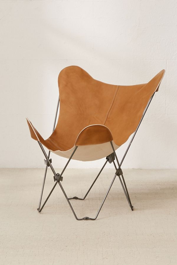 Leather Butterfly Chair $45