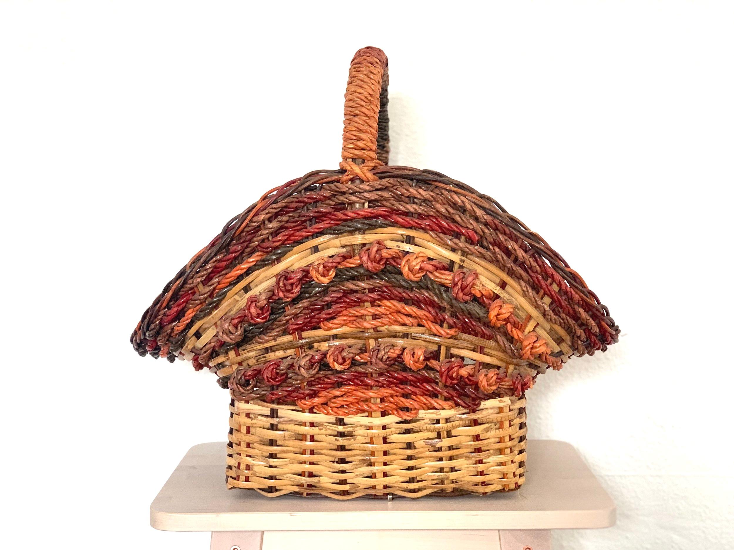 Large Floral Basket $8