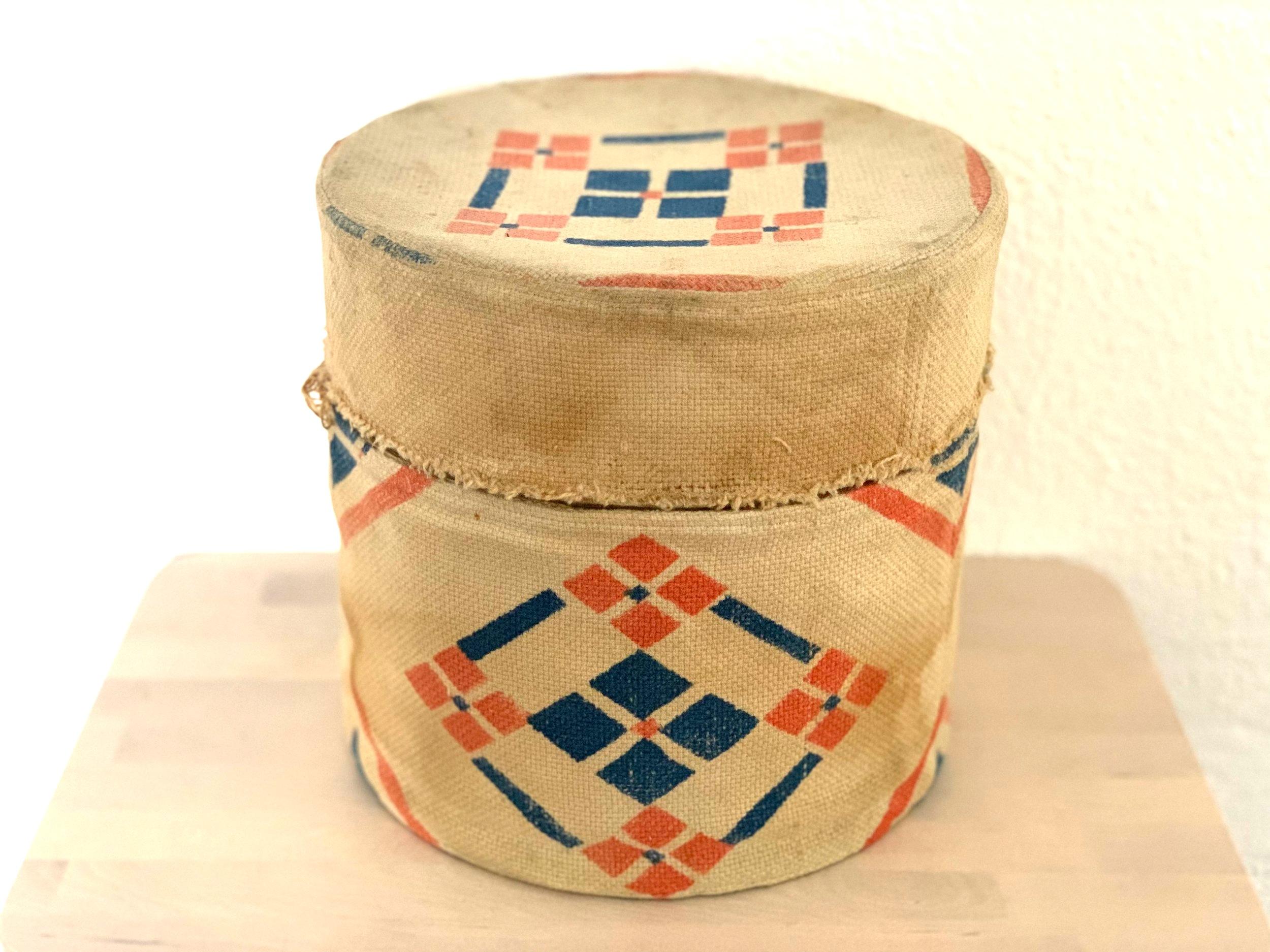 1970s Folk Art Woven Box $8