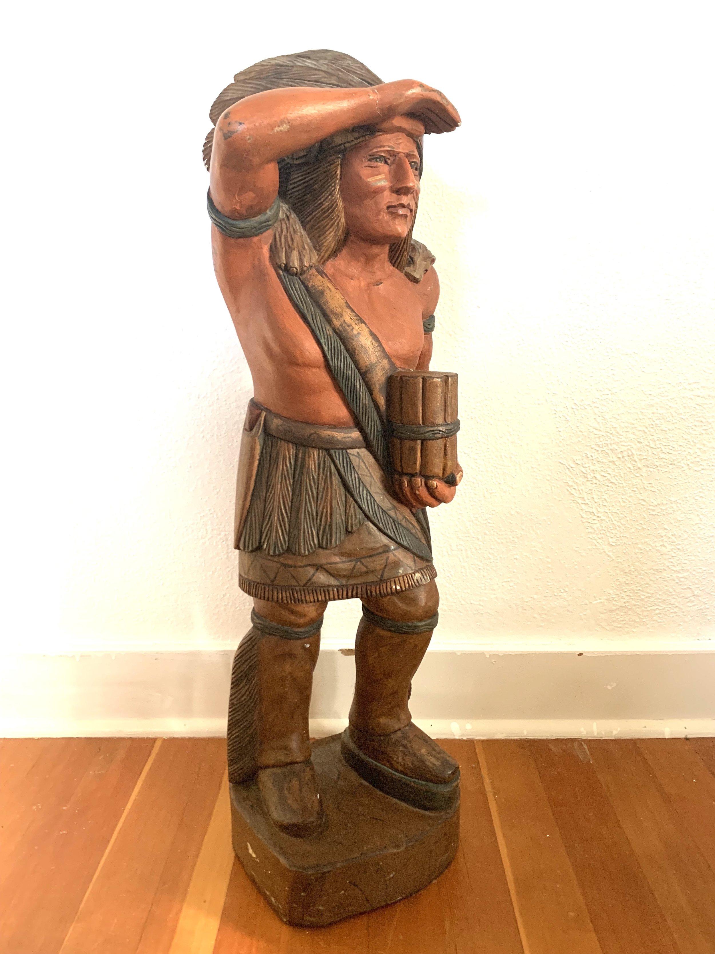 Vintage Cigar Statue