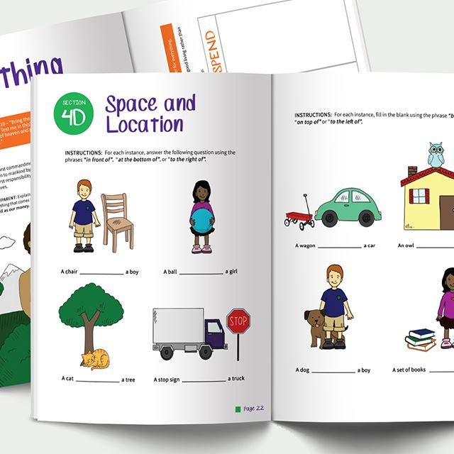 A peak into CRAM's Math Workbook. Eye catching and inviting illustrations and clean, easy to understand layout 🖍