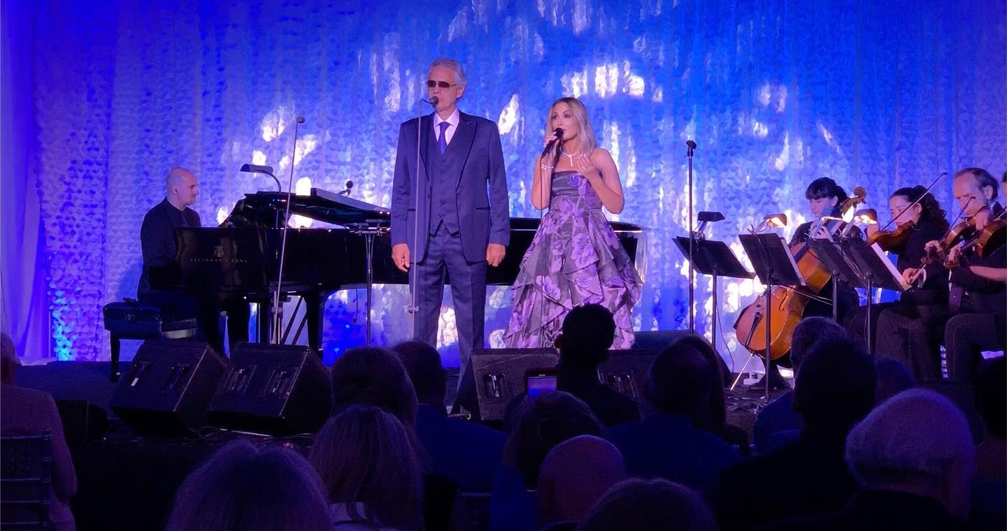 June 2019 - Giada performed with Andrea Bocelli