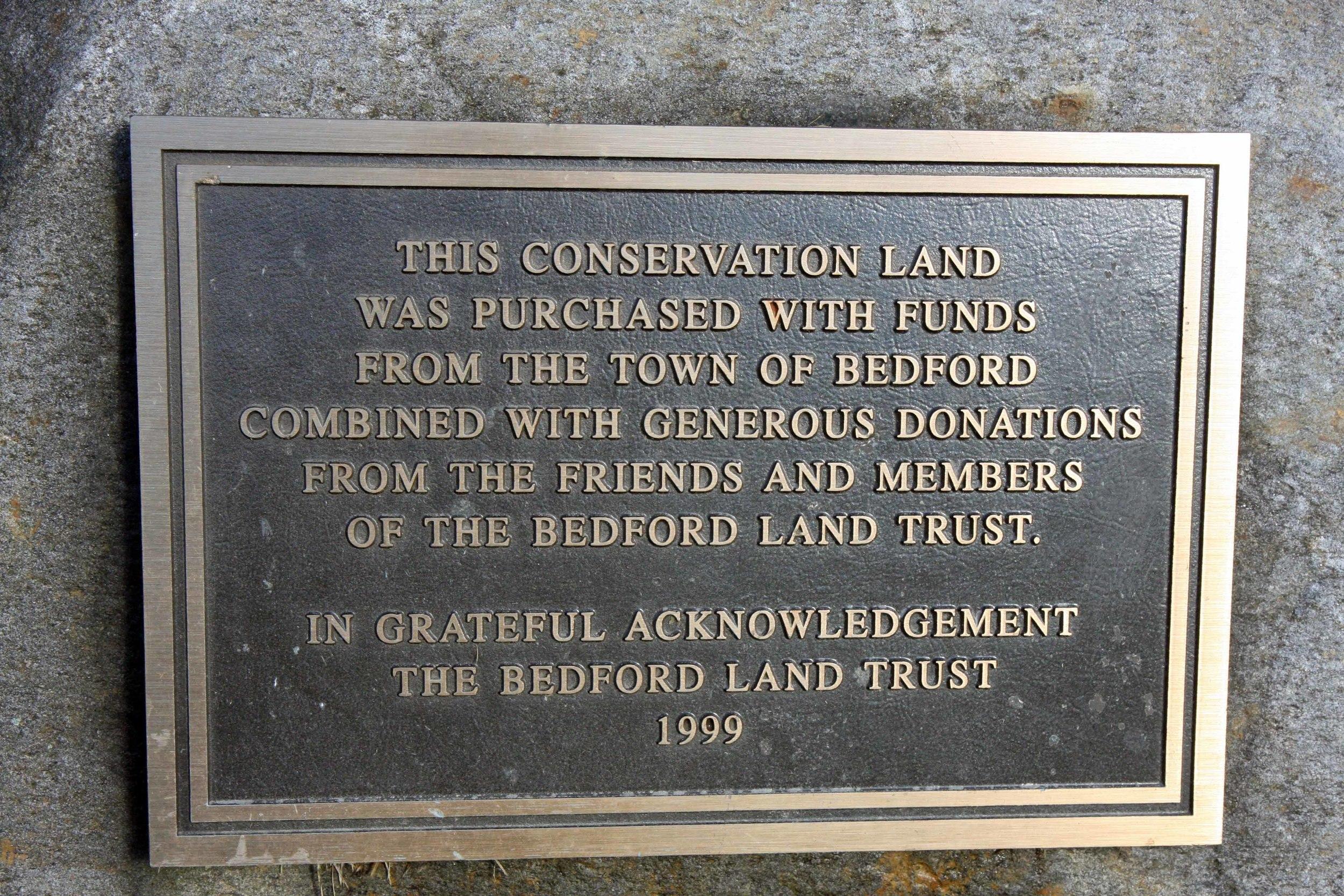 1999 dedication plaque