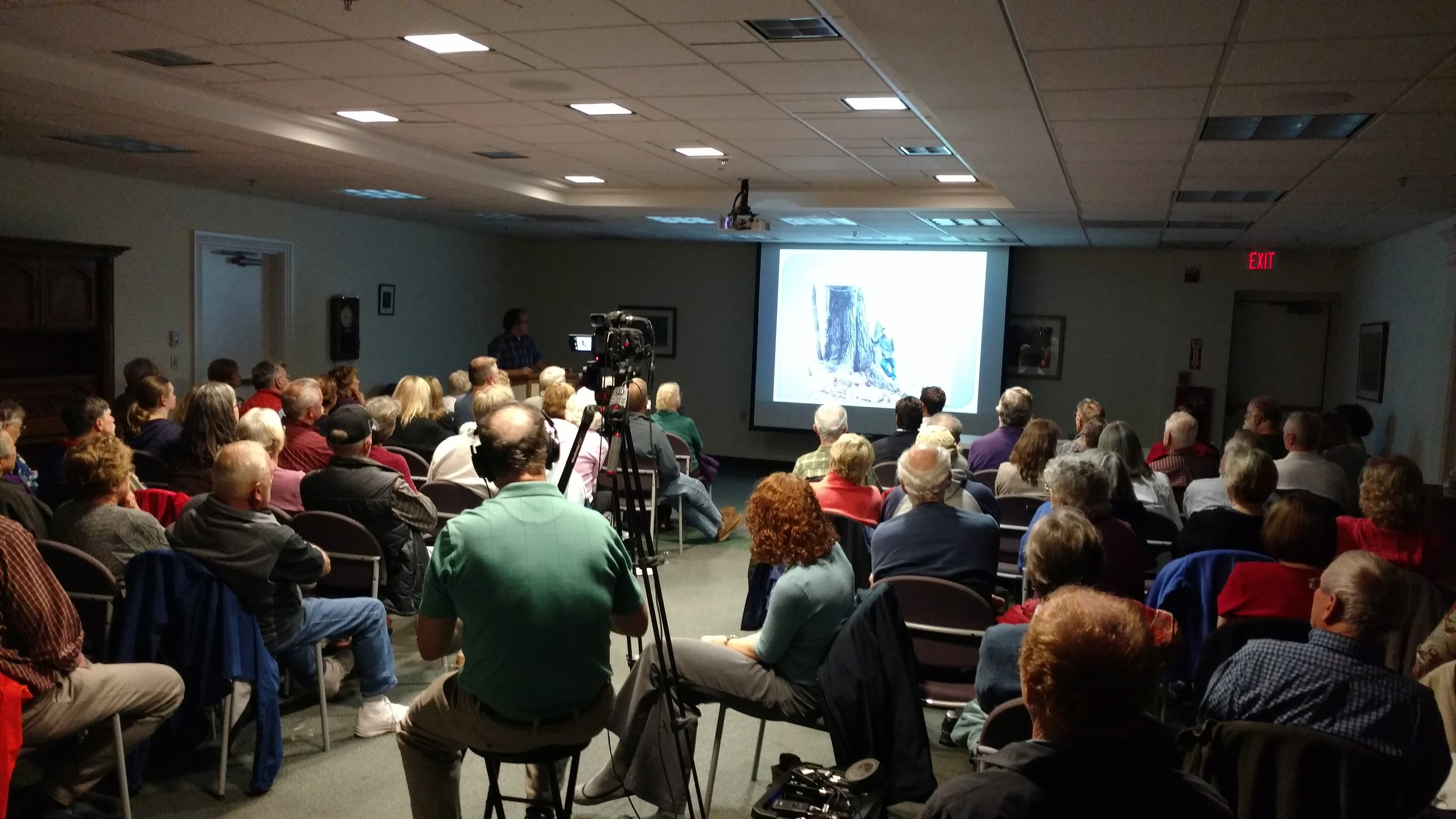 Kevin drew a packed house to our annual meeting