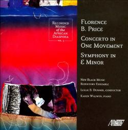 Click  here  to listen to excerpt of Concerto in One Movement.     Click  here  to read review by Bob McQuiston of Florence B. Price Concerto in One Movement, Symphony in E Minor.  Karen Walwyn is solo pianist.