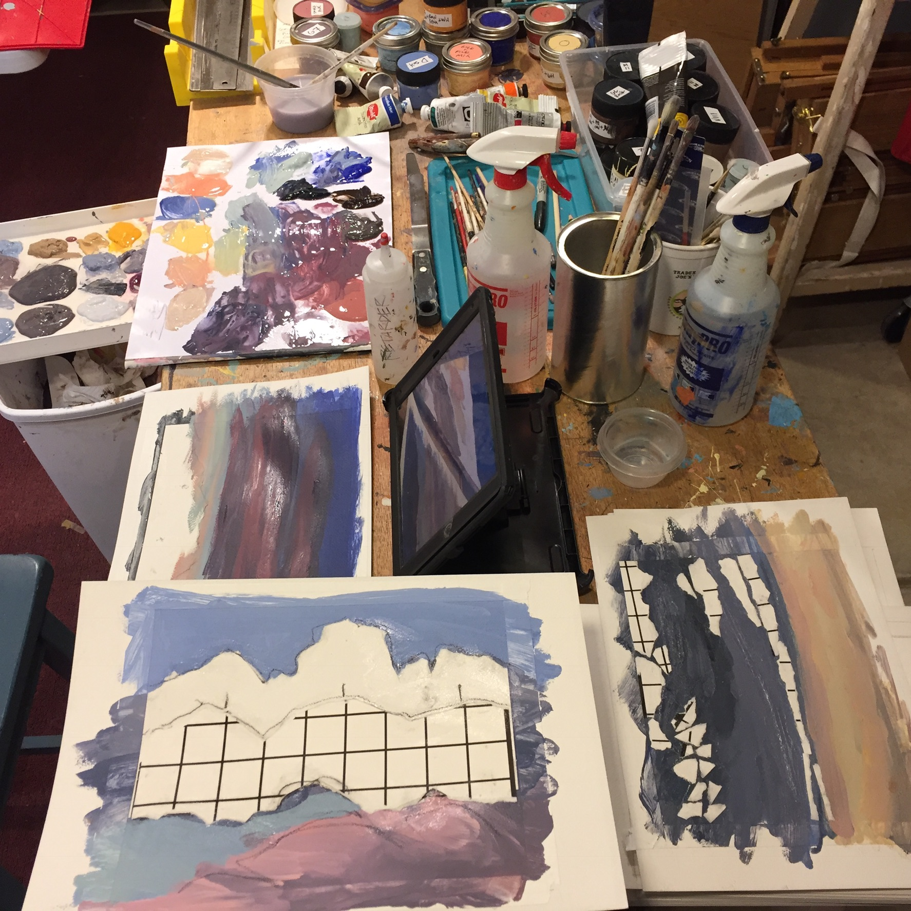 Cloud chaos on my painting table.