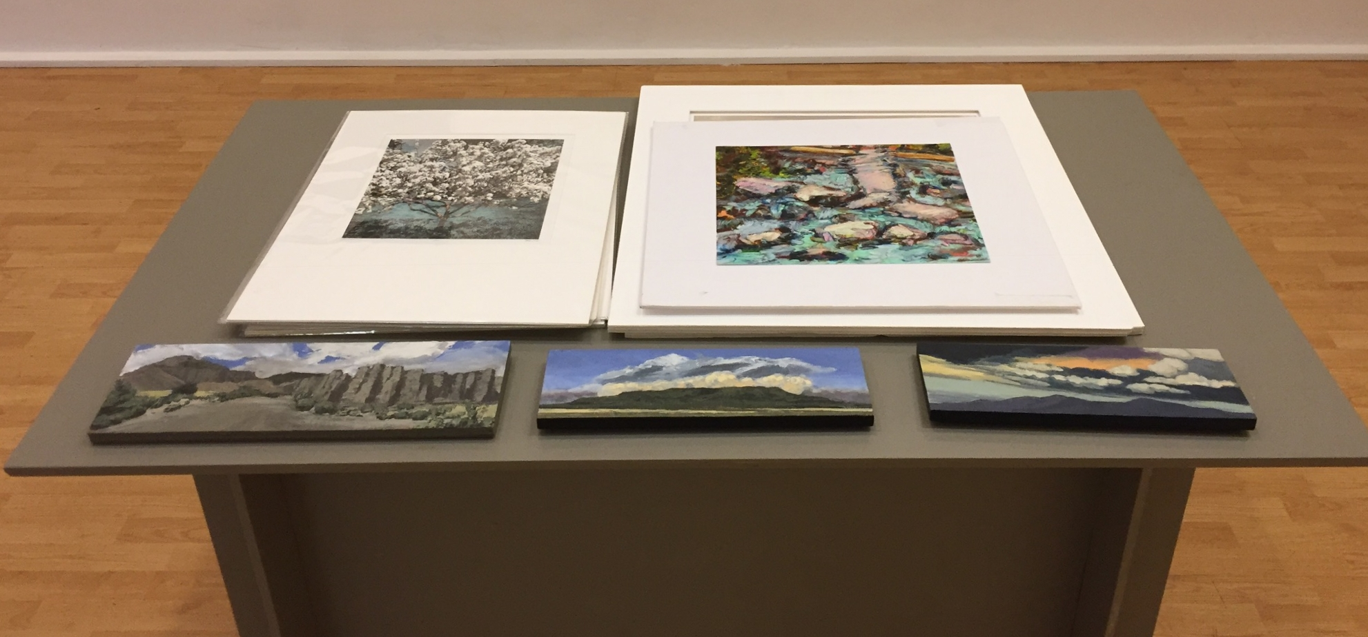 Lil' landscapes on display