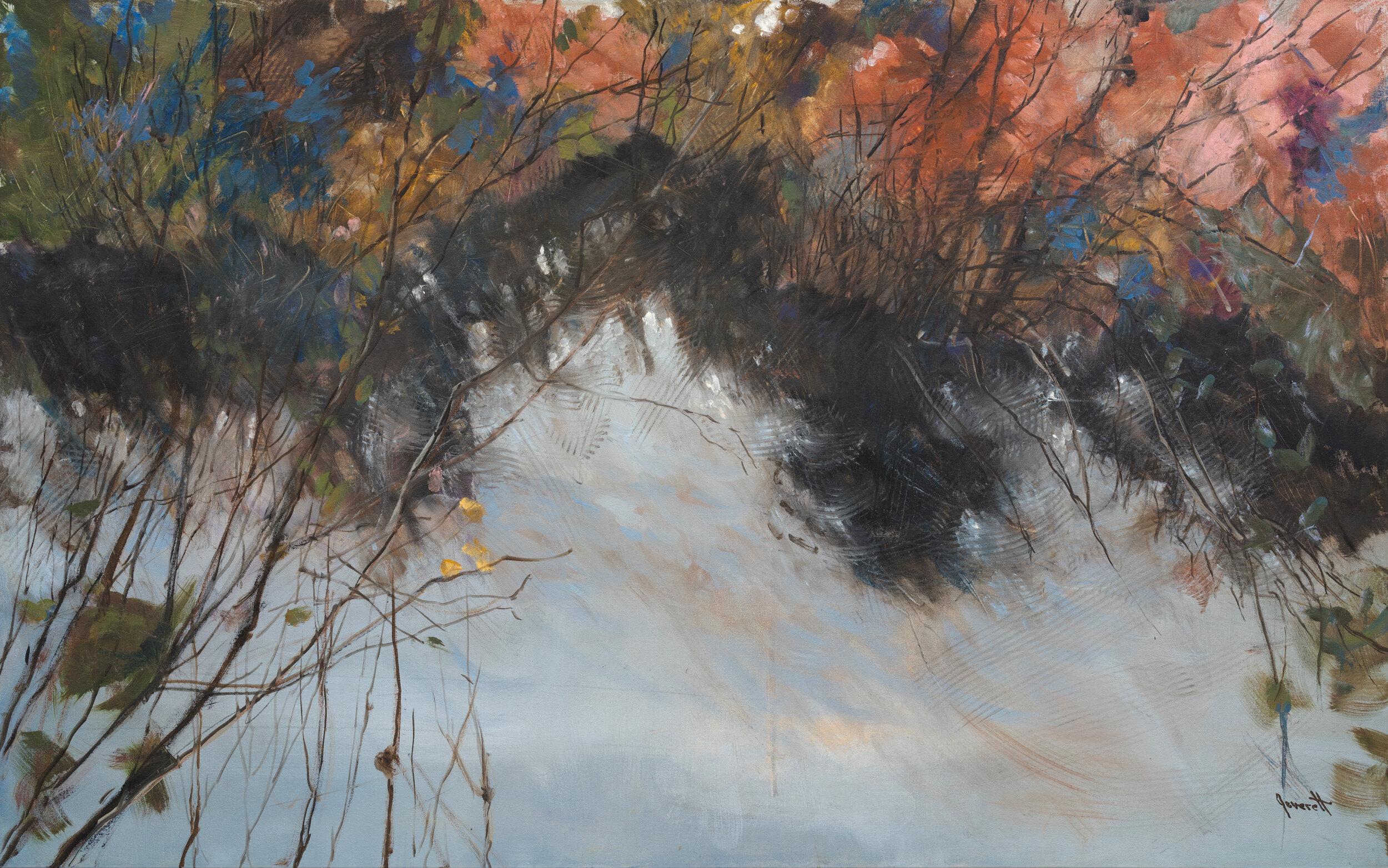 """Slipstream III 30x48"""" oil on canvas"""